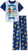 Pokemon Trainer Big Boys' 2-Piece Pajama Set, Sizes 6, 8 & 10 - Blue/Grey