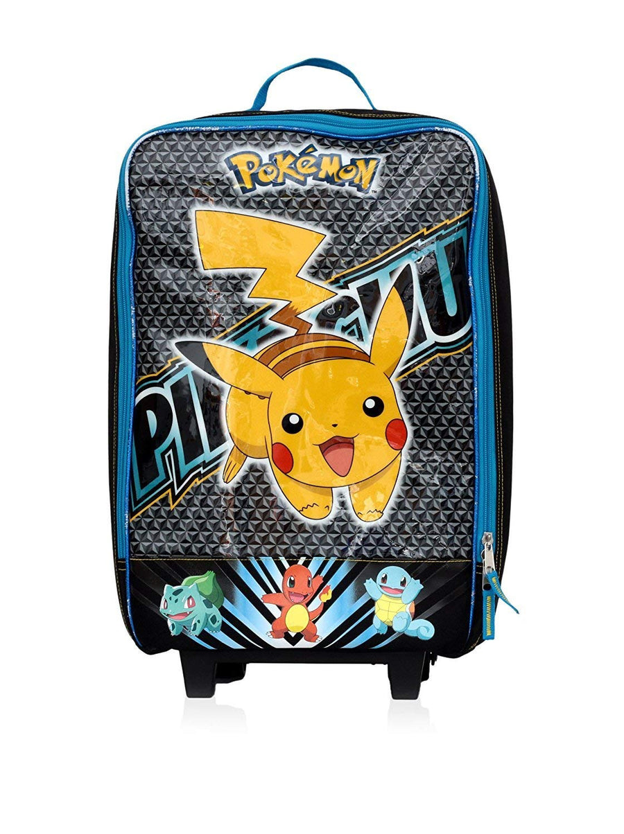 "Pokemon Pikachu 16"" Pilot Suitcase, Blue/Black"