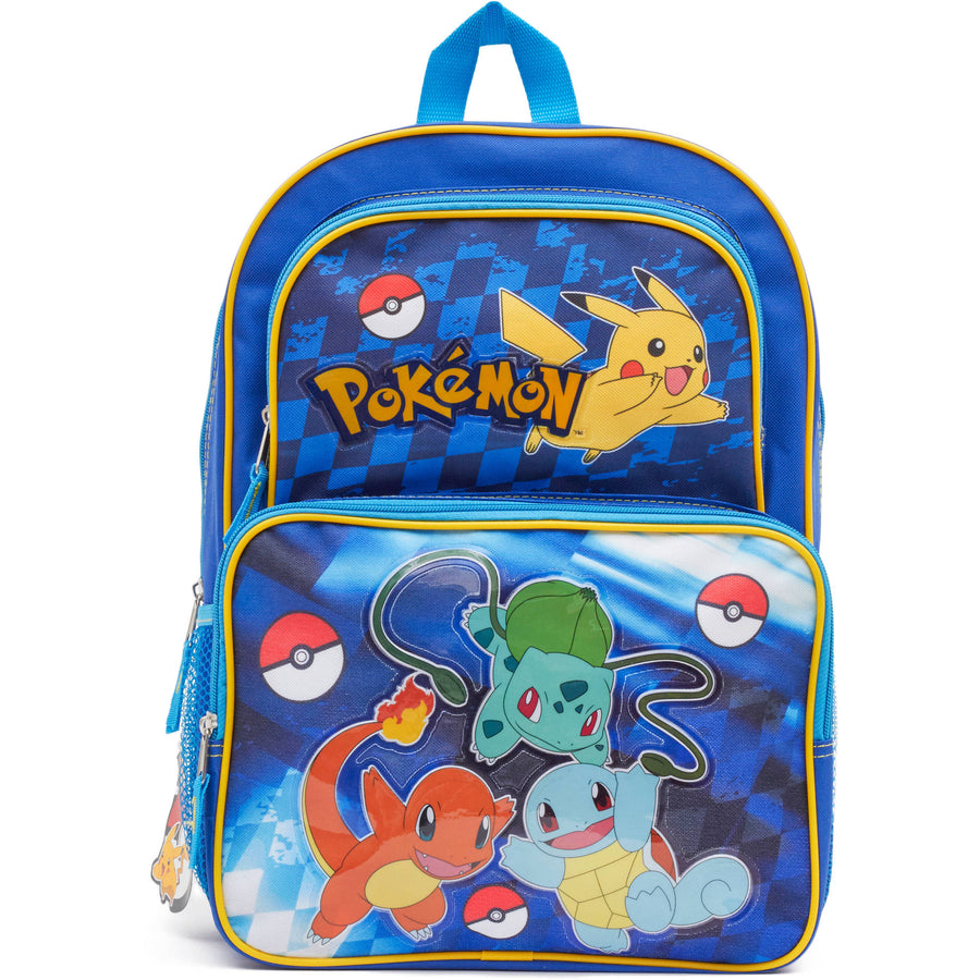 Pokemon Boys' 16 Inch School Backpack Large - Blue/Yellow