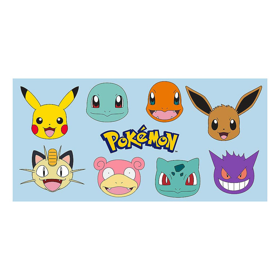 Pokémon Pikachu, Charmander, Squirtle, Eevee Cotton Towel For Summer Beach Pool Water Park - Blue/Multi