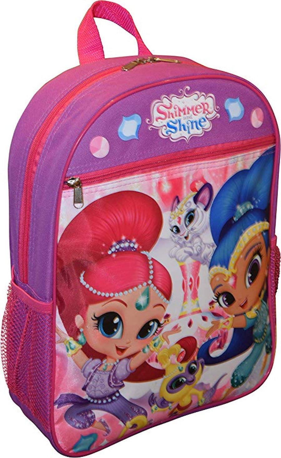 "Nickelodeon Girls' Shimmer and Shine 15"" School Bag Book Bag Backpack - Pink"
