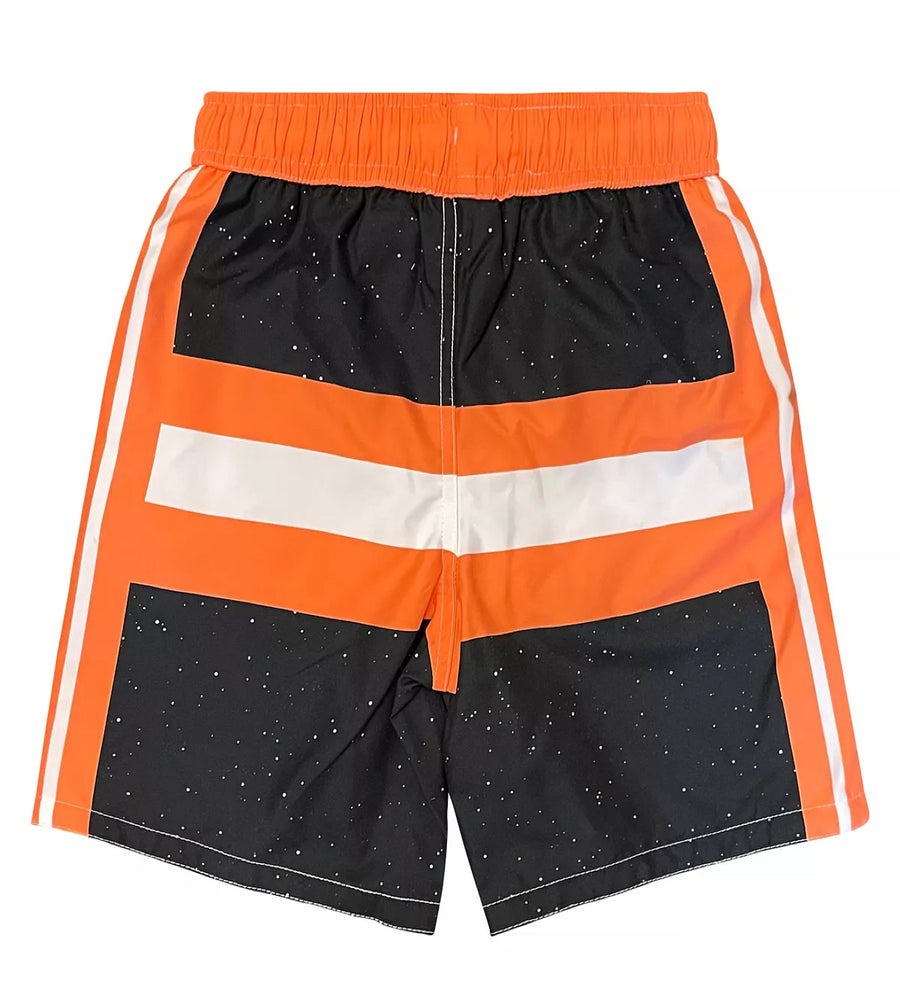 Star Wars Boys' Boys' Bathing Suit Kids Swim Trunks, 4-7, Orange Black