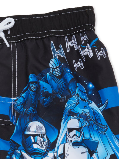 Star Wars Little/Big Boy Swim Trunk Swimwear - Blue - Sizes 4, 5/6 and 7