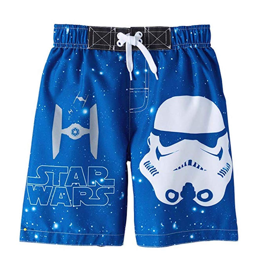 Star Wars Boys' Swim Trunk Board Short Swimwear - Blue - Size 5/6