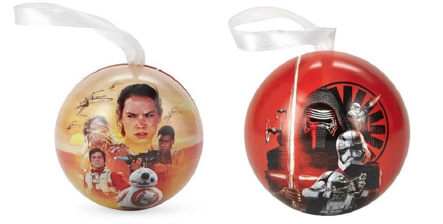 Hallmark Star Wars Ornament 2-Sided Tin Ball Ornament, Set of 2
