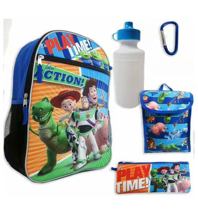 Toy Story Boys' 5 Piece School Backpack Set, Blue