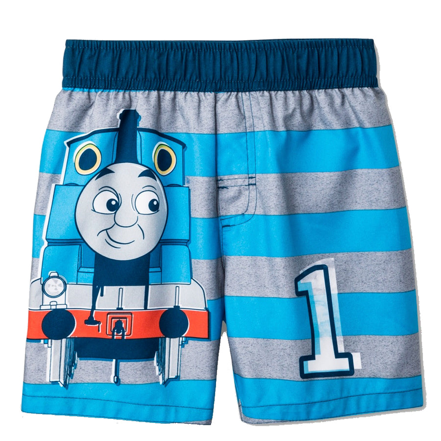 Thomas & Friends Thomas the Tank Engine Toddler Boys' Swim Trunks - Turquoise/Gray
