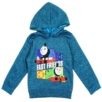 Nickelodeon Toddler Boys' Fleece Lined Pullover Hoodie Sweatshirt - Thomas The Tank Engine - Teal Blue