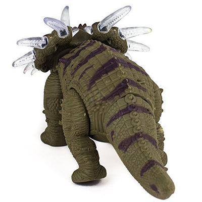 Triceratops Walking Dinosaur Toy with Amazing Dinosaur Sounds, Lights & Movement for Kids