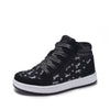 Girls' Unicorn Black and Silver Hi-Top Sneaker Shoes - Lace Free Side Zippered Closure - Sizes 10, 11, 12, 13, 1, 2, 3 and 4