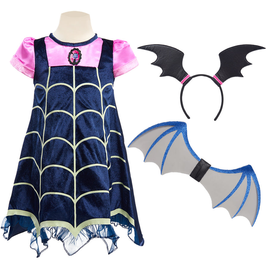 Disney Vampirina Dress Up Glow In The Dark 3 Piece Boo-Tiful Dress - Pink/Navy Blue