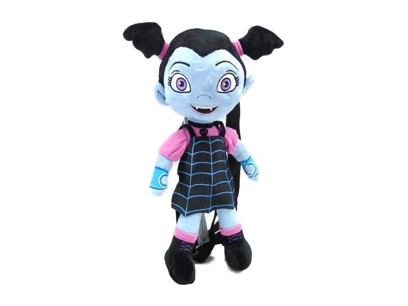 "Disney Jr. Vampirina Girls' Plush 14"" Doll Backpack Plus 16-Piece Hair Accessory Set Bundle"