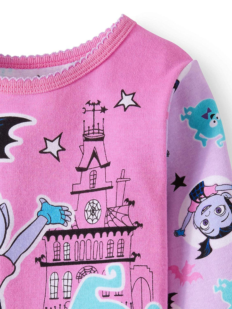 Disney Vampirina Toddler Girls' Cotton Pajama Set, Pink, Sizes 3T, 4T, 5T