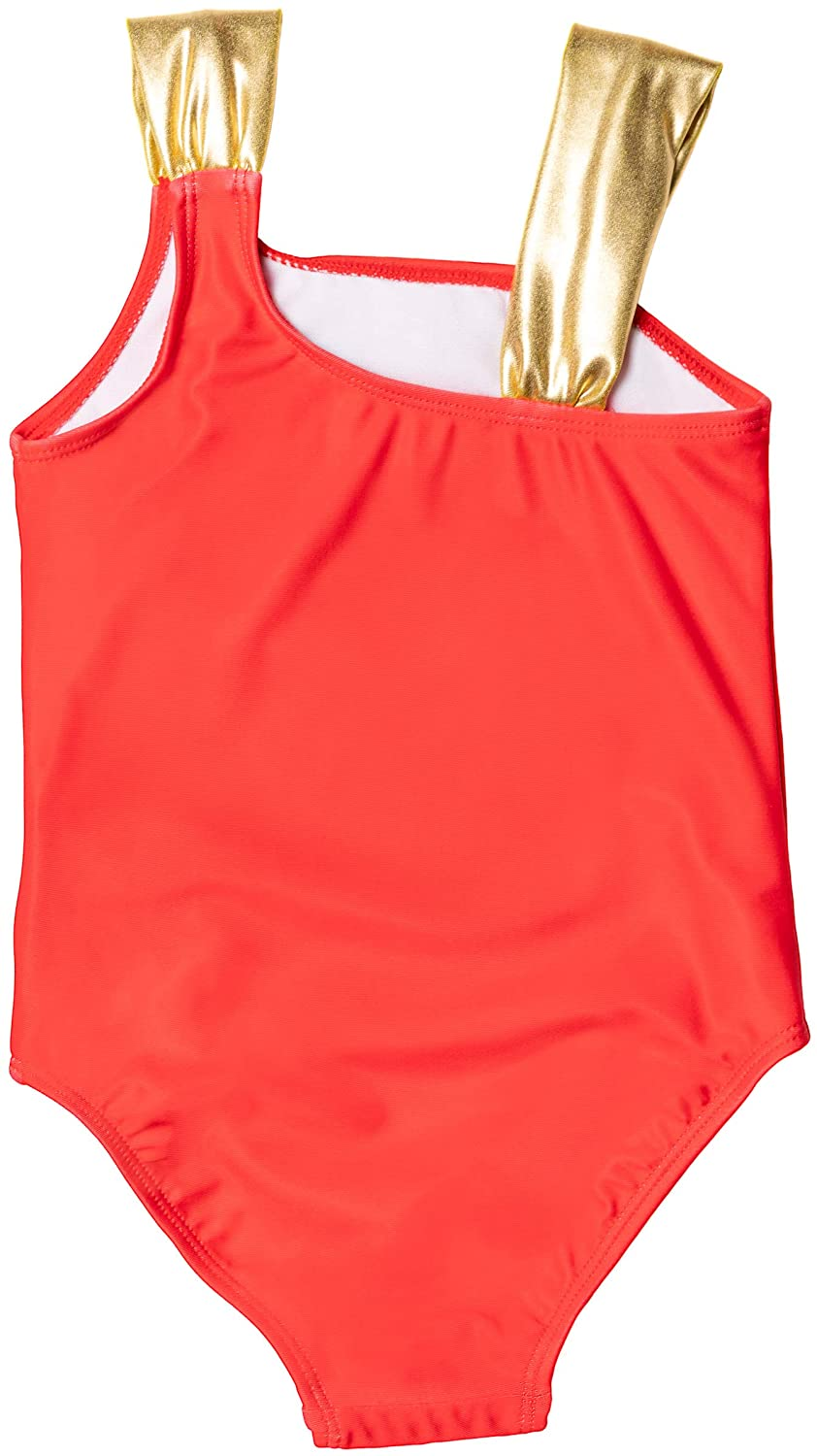 Wonder Woman Toddler Girls' Bathing Suit One Piece Swimsuit, 2T-4T, Red