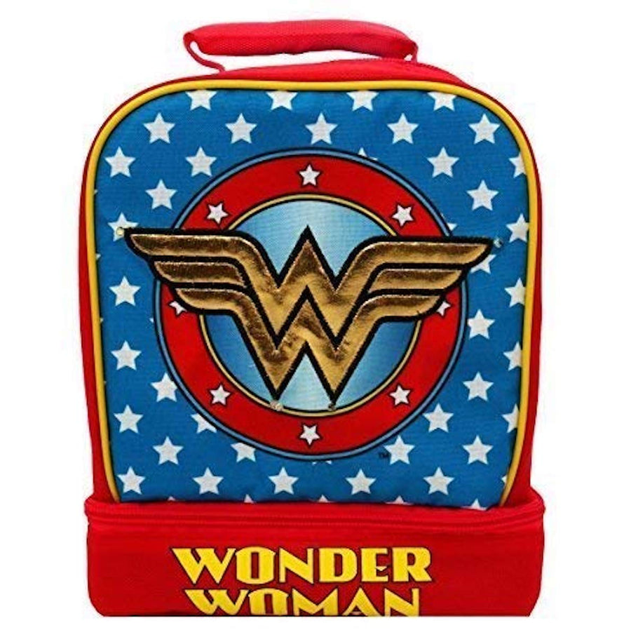 Wonder Woman Light-Up Dual Chamber Deluxe Lunch Tote Bag With Motion Activated Lights