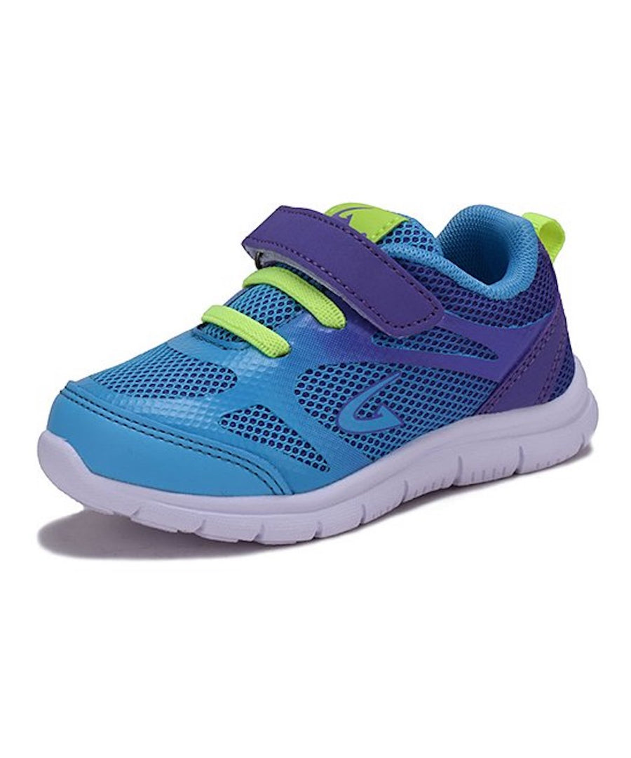 Girls' Sneaker Toddler Shoes Tennis Kid Shoe White & Aqua or Blue & Purple Size 5-10