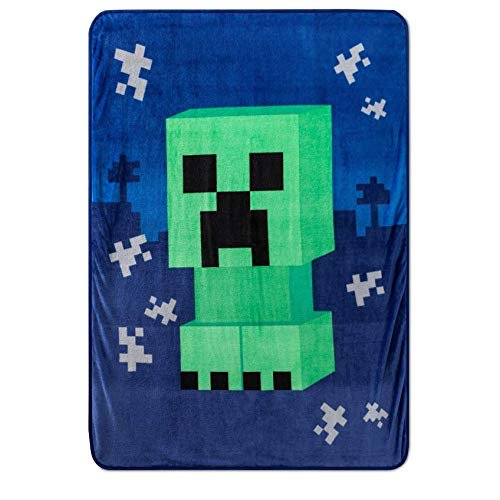 "Minecraft Plush Throw Creeper 46"" x 60"" Blanket"