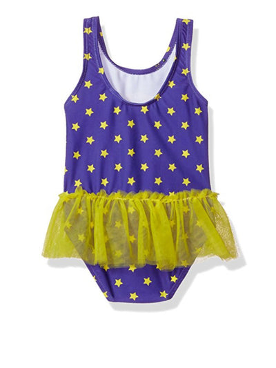Warner Bros. Toddler Girls' Batgirl One Piece Swimsuit - Eggplant Sizes 2T & 3T
