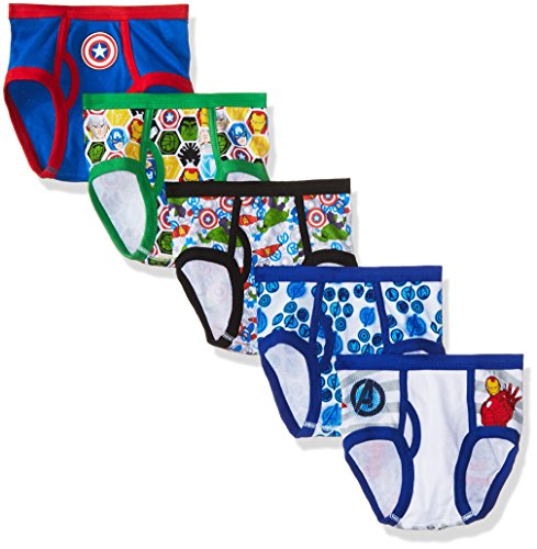 Marvel Big Little Boys Avengers 5-Pack Underwear Briefs, Sizes 4, 6 & 8