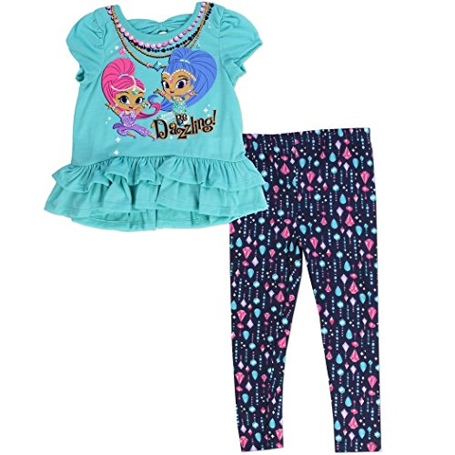 SHIMMER and SHINE Toddler Girl's Legging Set Sizes: 2T-4T