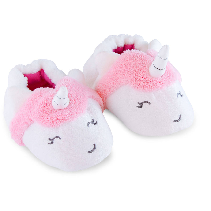 Child of Mine by Carter's Newborn Baby Girl Unicorn Slip On Slippers
