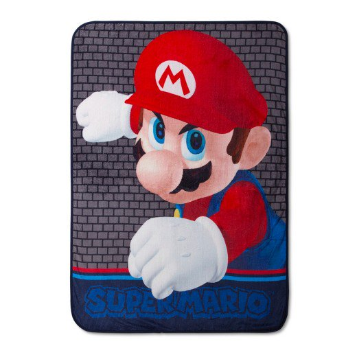 "Super Mario Bros. Kids' Throw, 46"" x 60"" Plush Blanket"