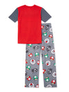 Super Mario Boys' Pajama Set Short Sleeve, 2-Piece, Sizes 4-12