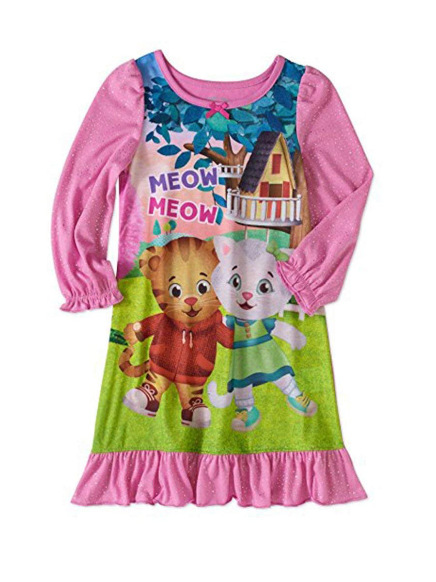 "Daniel Tiger Toddler Girls' ""Meow"" Nightgown, Pink, Sizes 2T-4T"