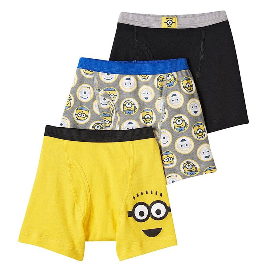 Despicable Me Minion Boys 3-Pack Boxer Briefs Size 6