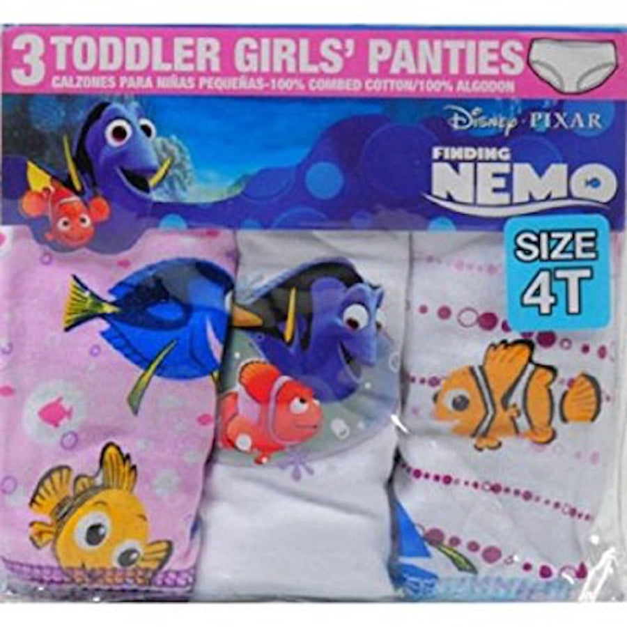 Disney Finding Nemo Dory Toddler Girls Panties Underwear 3-Pack Size: 4T