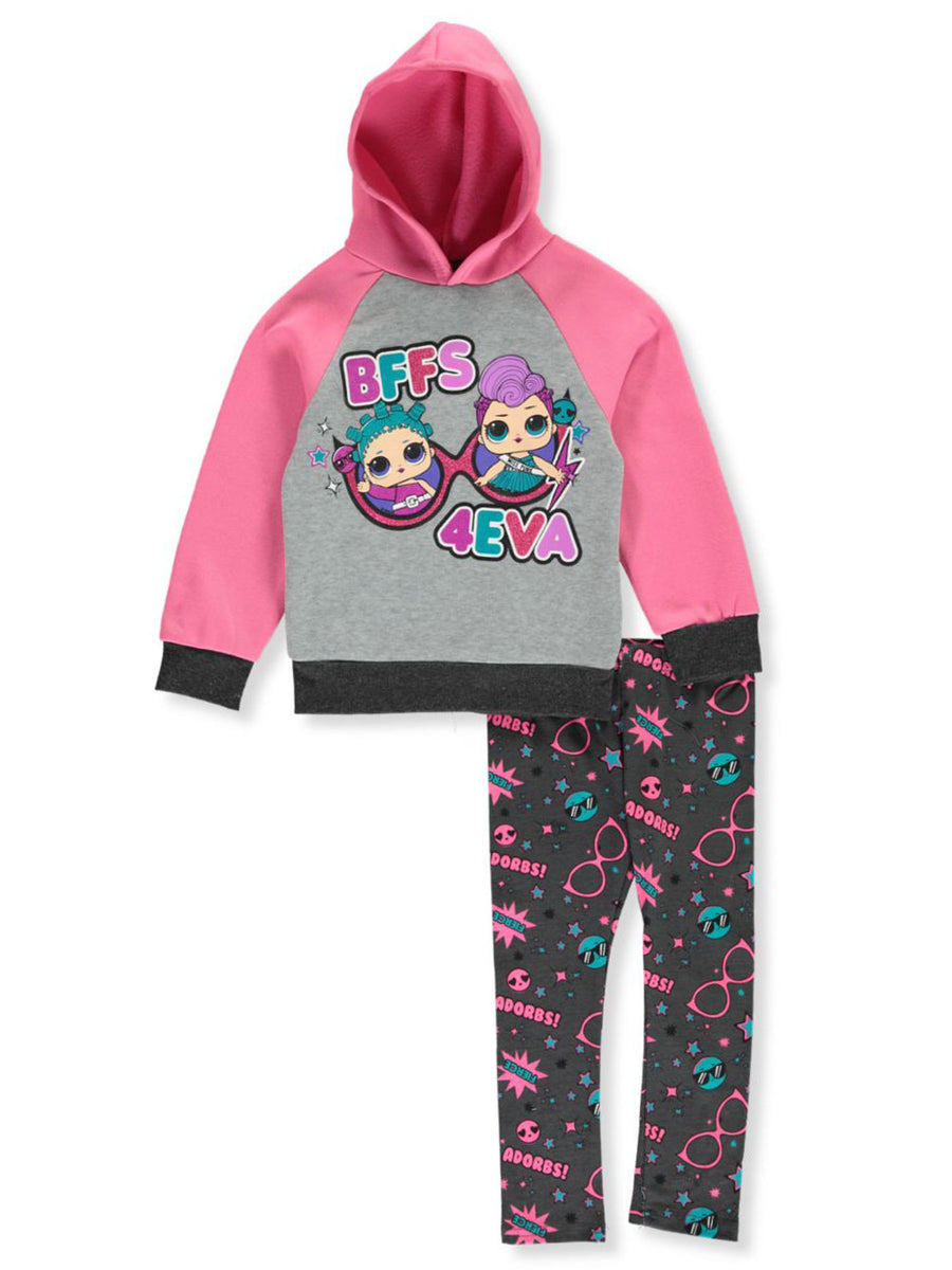LOL Surprise Girls' Leggings Set 2-Piece Outfit BFFS 4EVA