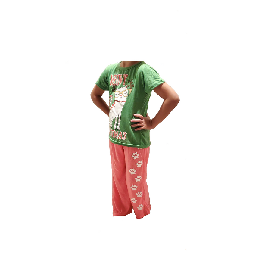 Girls' Christmas Holiday 2PC Sleepwear Pajama Sets - Sizes 4-14/16 (Little/Big Girls)
