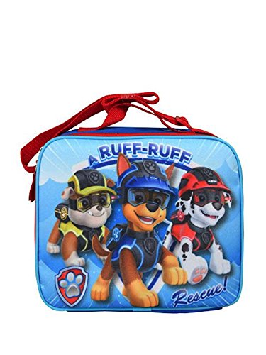 "Paw Patrol ""Ruff Ruff Rescue"" Rectangle Lunch Bag with Long Strap, Blue"
