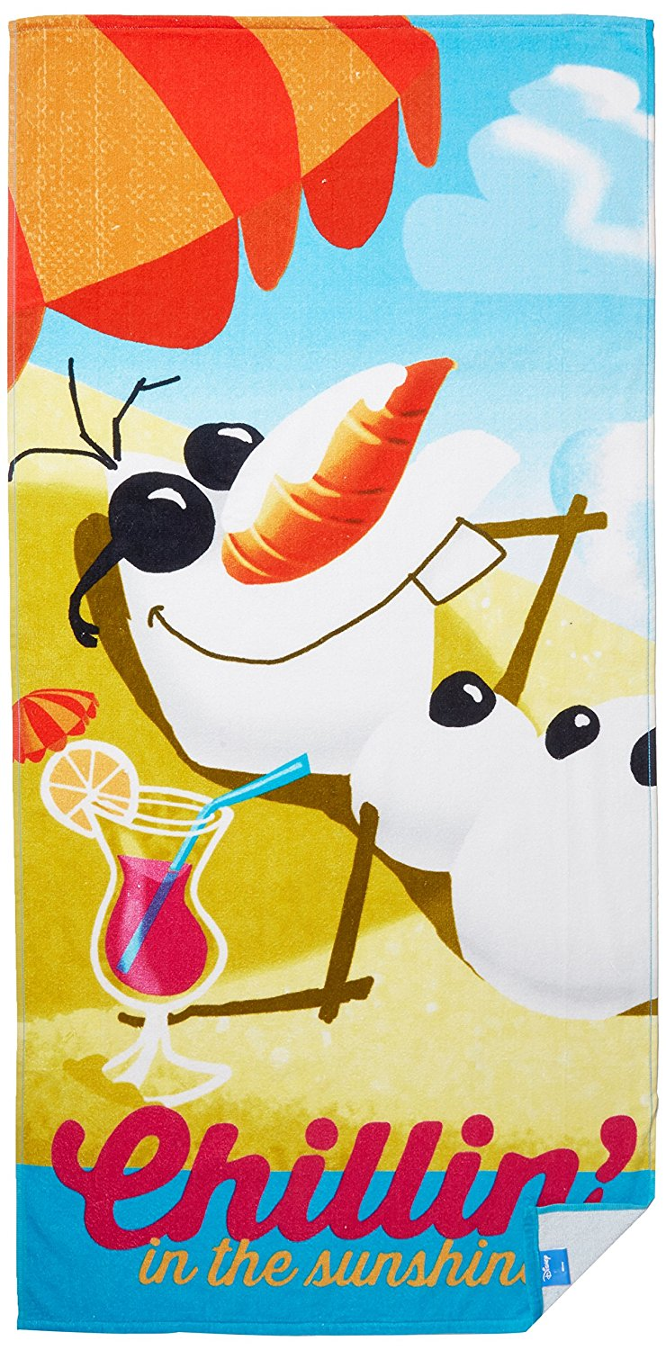 "Disney Frozen ""Chillin In The Sunshine"" Beach Towel, Multi-colored"