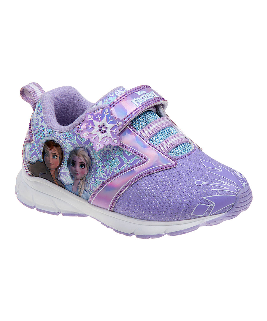 Frozen Girls' Anna and Elsa Athletic Sneaker Shoes - Purple - Toddler/Little Kid