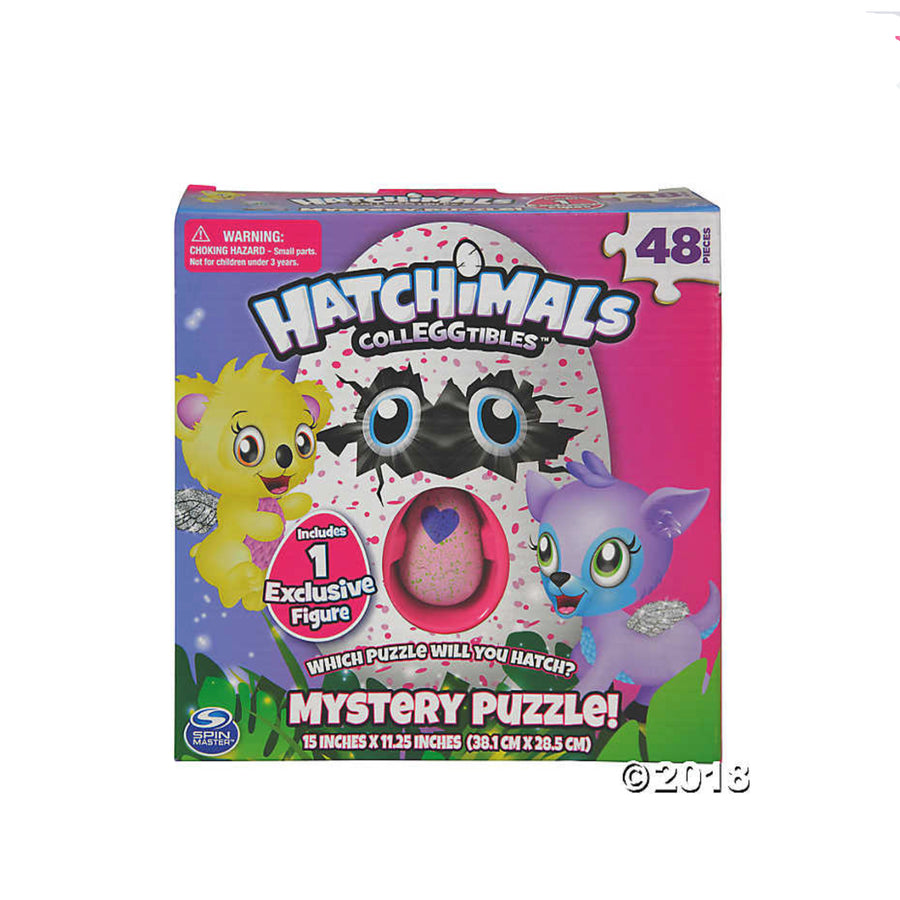 Hatchimals CollEGGtibles Mystery Puzzle 48pc Plus 2-Pack Plus Nest CollEGGtibles Bundle