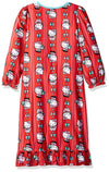 Hello Kitty Little Girls' Holiday Granny Nightgown, Red, X-Small / 4-5