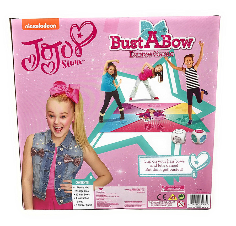Nickelodeon JoJo Siwa Bust A Bow Dance Game And Dance Dice Game - Multi Value Bundle
