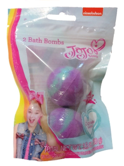JoJo Siwa 2PK Bath Bombs PLUS Purple Pink Reverse Sequin Bow Bundle Set