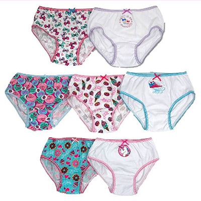 JoJo Siwa Girls' 7-Pc Cotton Underwear Brief Panties, Size 4 & 6