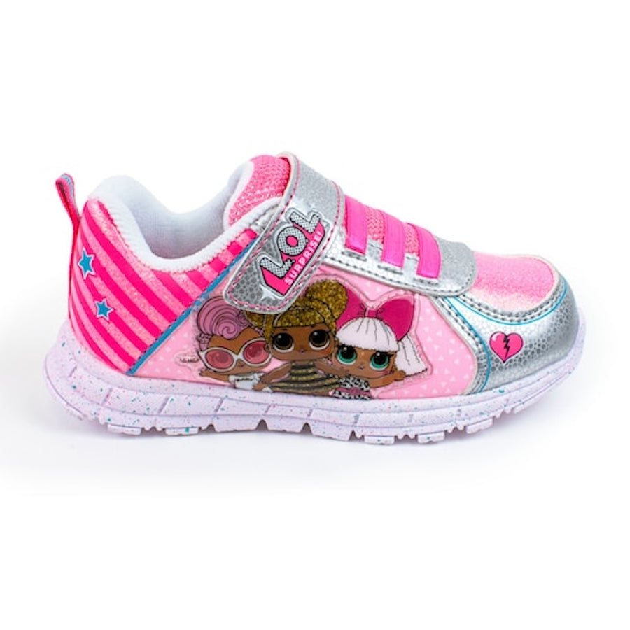 L.O.L Surprise Girls Sneakers Light Up Athletic Shoes - Toddler Big/Little Kids - Pink/Multi