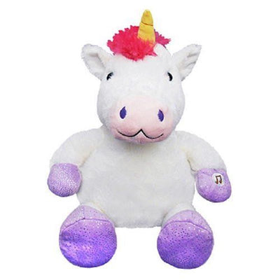 "Lullabrites 12"" Unicorn Magical Lullaby Plush Toy Music and Lights"
