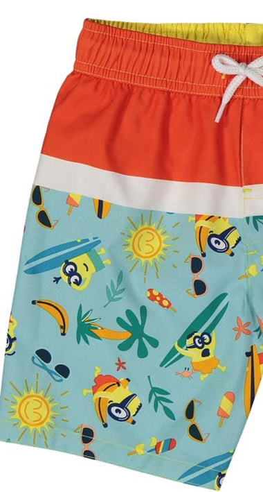 Minions Toddler Boys' Bathing Suit Kids Swim Trunks, 2T-4T, Red Multi