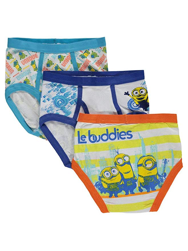 Despicable Me Minions Little Boys' Sketch 3-Pack Briefs, Size 4, Multi-colored