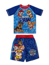 PAW Patrol Boys' Rash Guard Swim Trunks Bathing Suit Set 2pc, 4-7, Blue