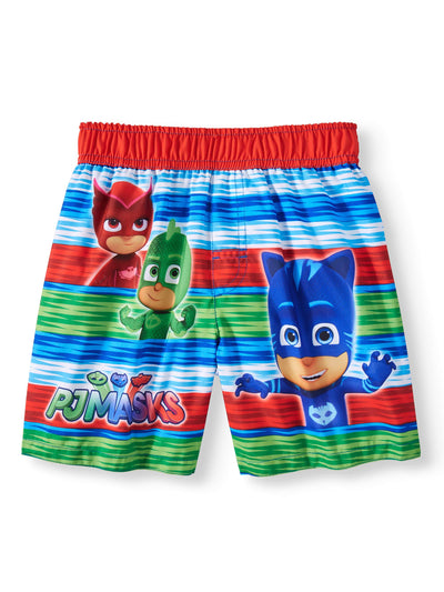 PJ Masks Boys' Swim Trunks Toddler Bathing Suit For Kids - Multicolor - Size 5T
