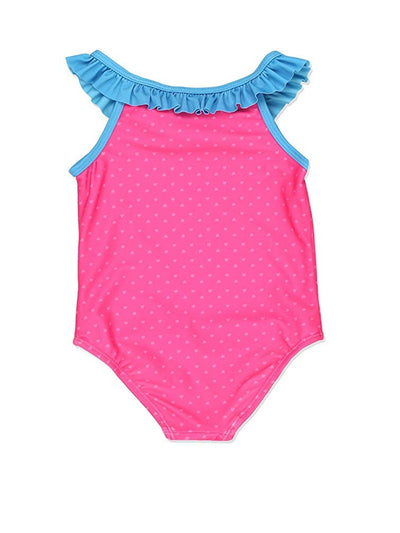 Peppa Pig Toddler Girls Swimwear Swimsuit, Pink, Sizes 2T-4T