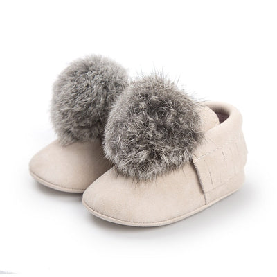 Baby Girl Walkers Shoes Newborn Anti-Slip Moccasin Shoes 0-18M