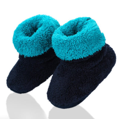 Baby Boys And Girls Slippers Soft Warm Plush Kids Slippers 2-7Year Old