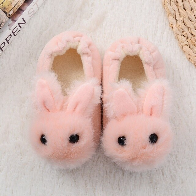 Boys And Girls Baby Slippers Rabbit Ears Warm Indoor Shoes Size-8-11.5